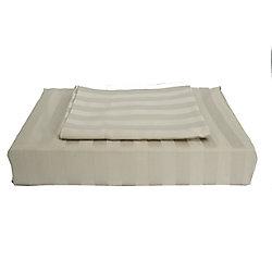 Maholi 310TC Bamboo Stripe Duvet Cover Set, Taupe, King