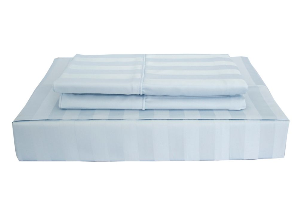 310TC Bamboo Stripe Sheet Set, Blue, King