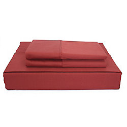 Maholi 230TC Maxwell Sheet Set, Burgundy, Queen