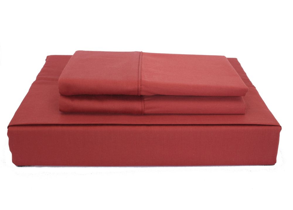 230TC Maxwell Sheet Set, Burgundy, Queen