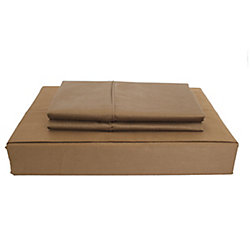Maholi 230TC Maxwell Sheet Set, Chocolate, Twin
