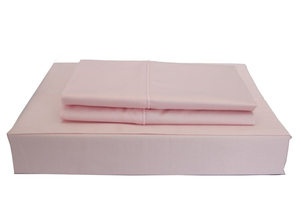 Maholi 230TC Maxwell Sheet Set, Pink, Twin