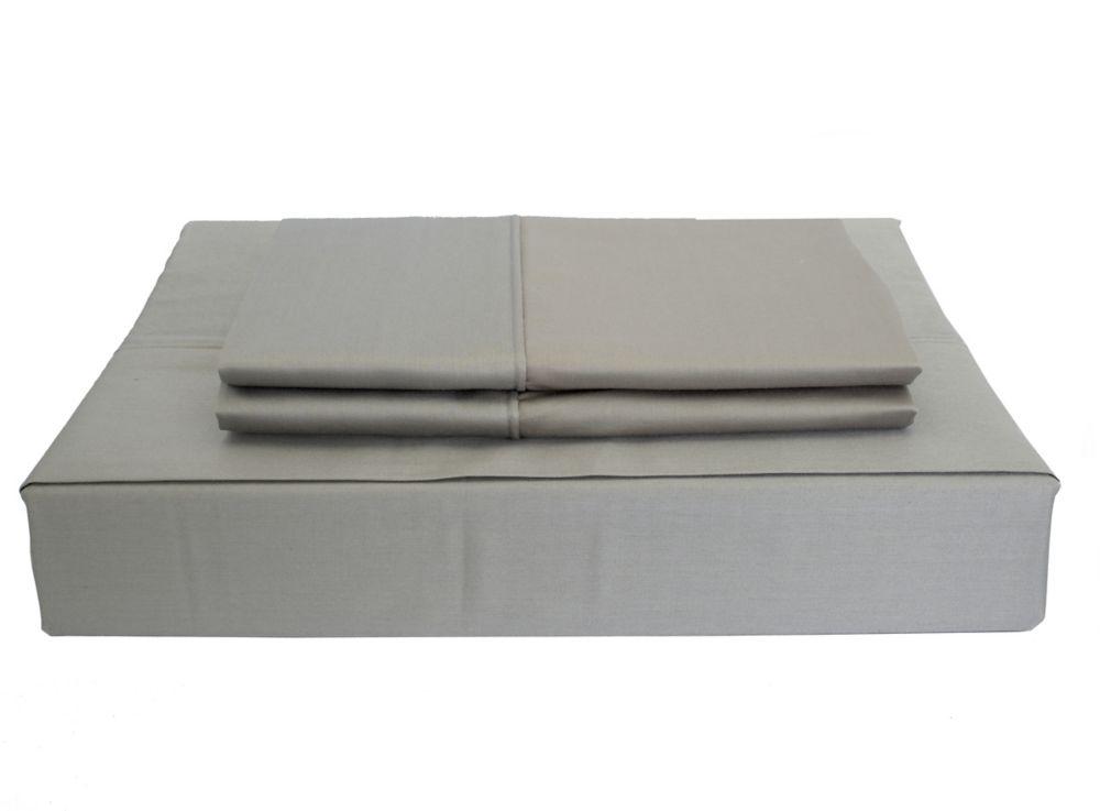 230TC Maxwell Sheet Set, Grey, Double
