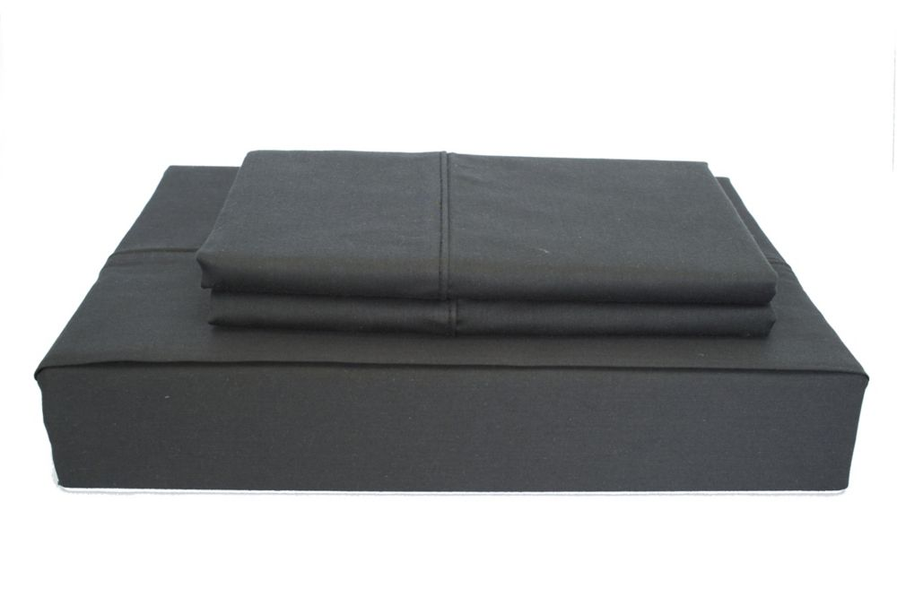 230TC Maxwell Sheet Set, Black, Twin