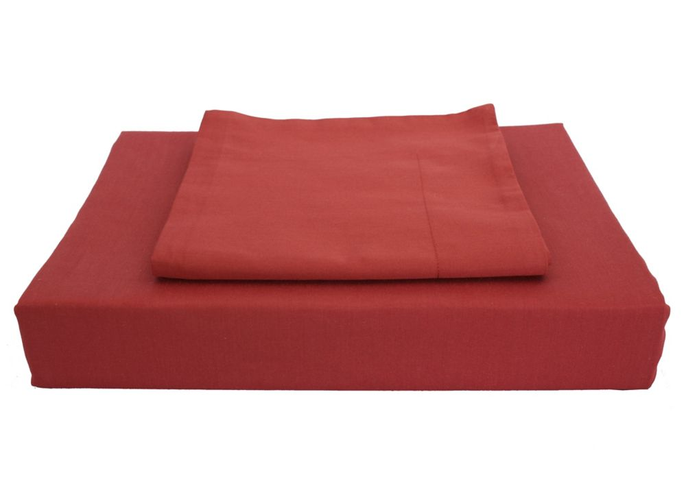 Maholi 230TC Maxwell Duvet Cover Set, Burgundy, Twin
