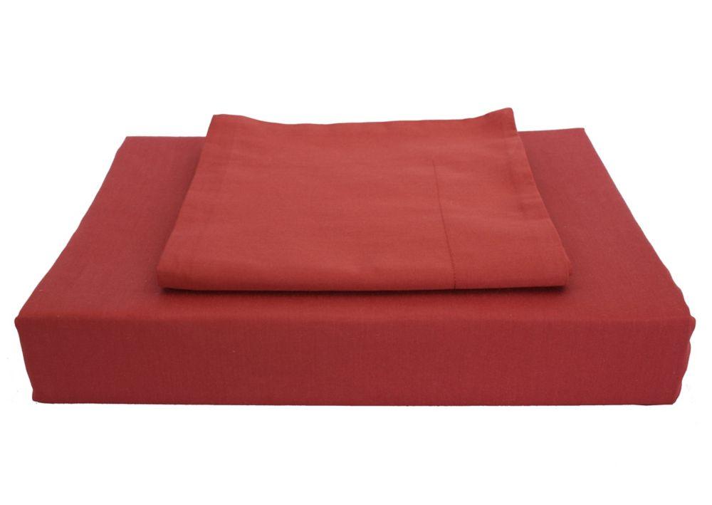 Maholi 230TC Maxwell Duvet Cover Set, Burgundy, Double