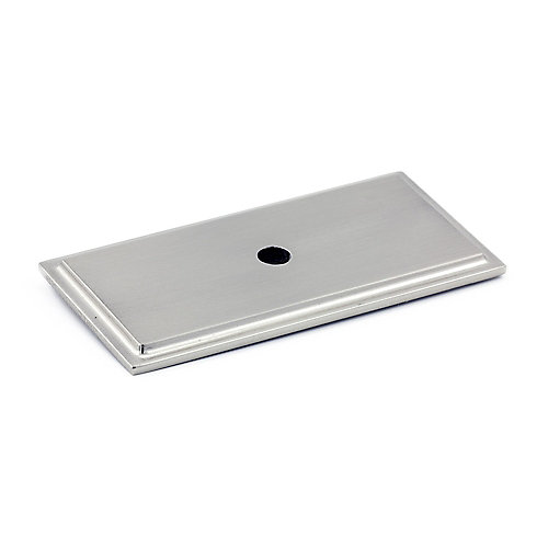 Plaque transitionnelle en métal pour bouton  Nickel brossé - Tremblant Collection