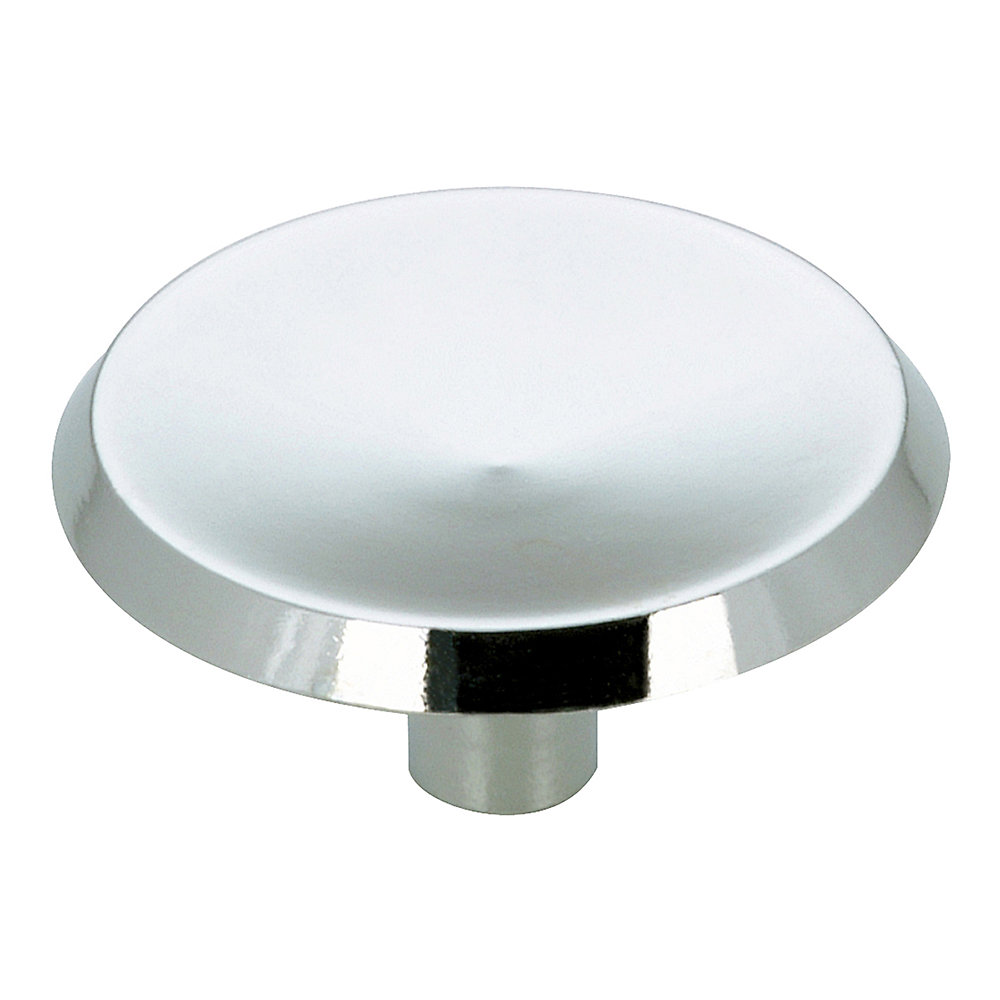 Traditional Metal Knob 1 1/2 in (38 mm) Dia - Chrome - Marseille Collection