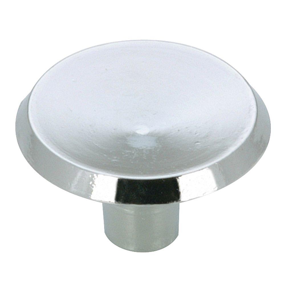 Bouton classique en métal - Chrome - Dia. 38 mm