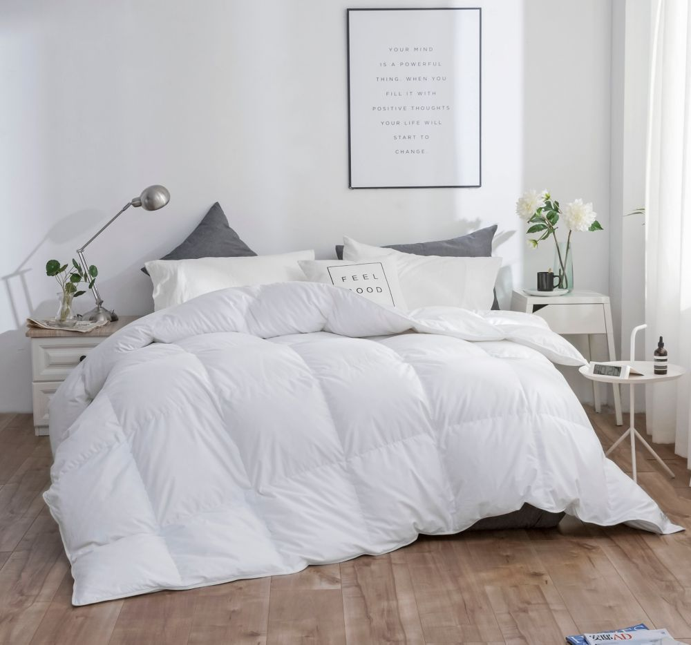 100/% Cotton White Down Duvet 550 Fill Power 233 TC Made In Canada