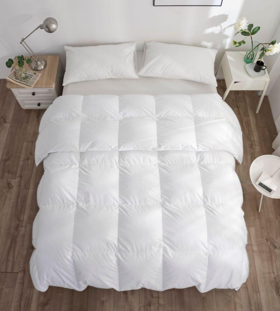 260FP couette de duvet doie blanche, d'hiver, très grand lit 45