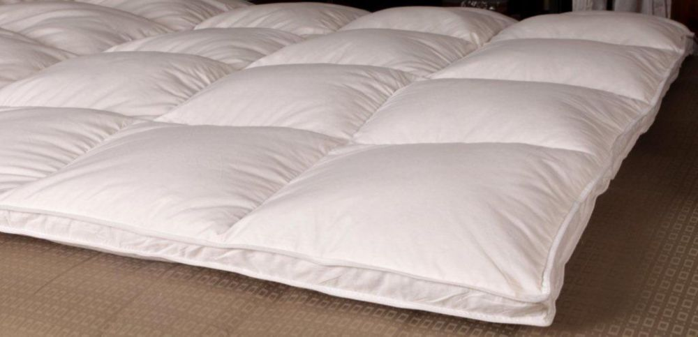 Royal Elite White Goose Downtop Featherbed, Queen