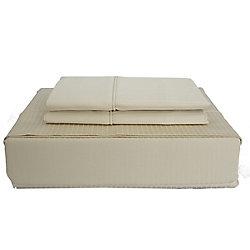 Maholi 600TC Tuxedo Stripe Sheet Set, Sand, Twin