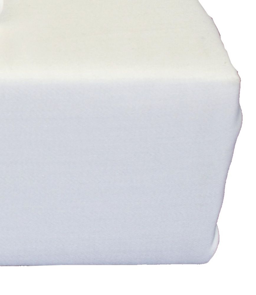 Baby Bamboo Fitted Sheet, Crib, White