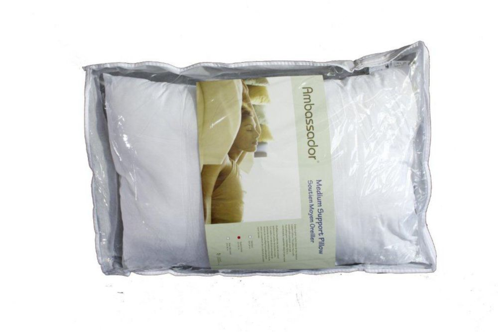 Ambassador Medium Microfiber Pillow, Queen