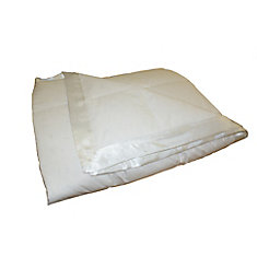 Couverture de duvet, 4 Saisons, lit 1 place, White