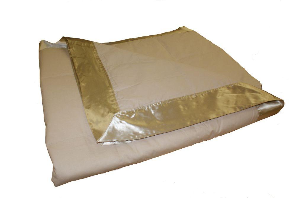 Couverture de duvet, 4 Saisons, très grand lit, Taupe