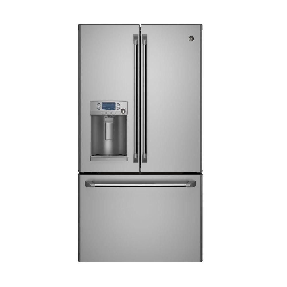 Café 22.1 cu. ft. Bottom-Mount French Door Refrigerator with Ice and Water in Stainless Steel - ENERGY STAR®