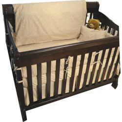 Maholi Baby Bamboo Fitted Sheet, Crib, Natural Leaf