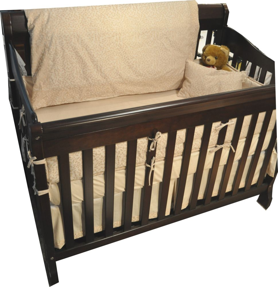 Baby Bamboo Dust Ruffle, Crib, Natural Leaf