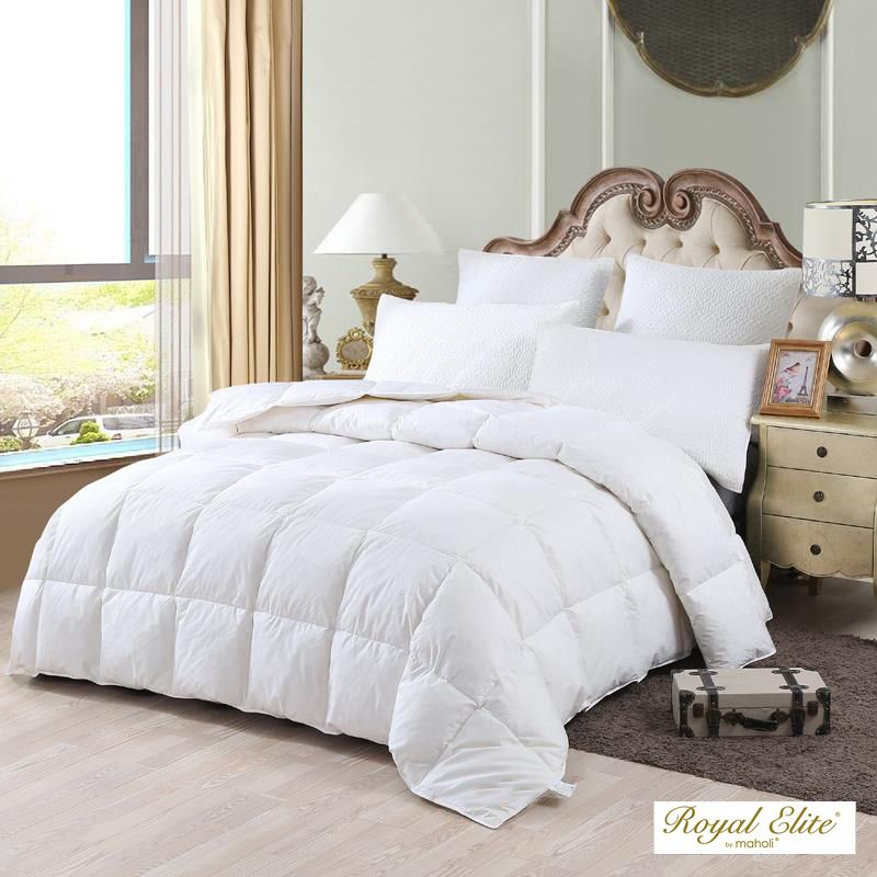 royal elite 400fp couette de duvet doie blanche hongroise indice 4 saisons lit 1 place 20. Black Bedroom Furniture Sets. Home Design Ideas
