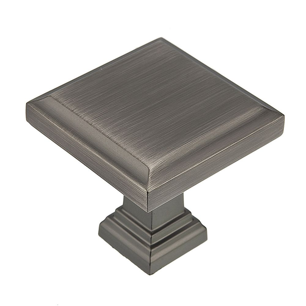 Transitional Metal Knob - Antique Nickel - 32x32 Mm Dia.