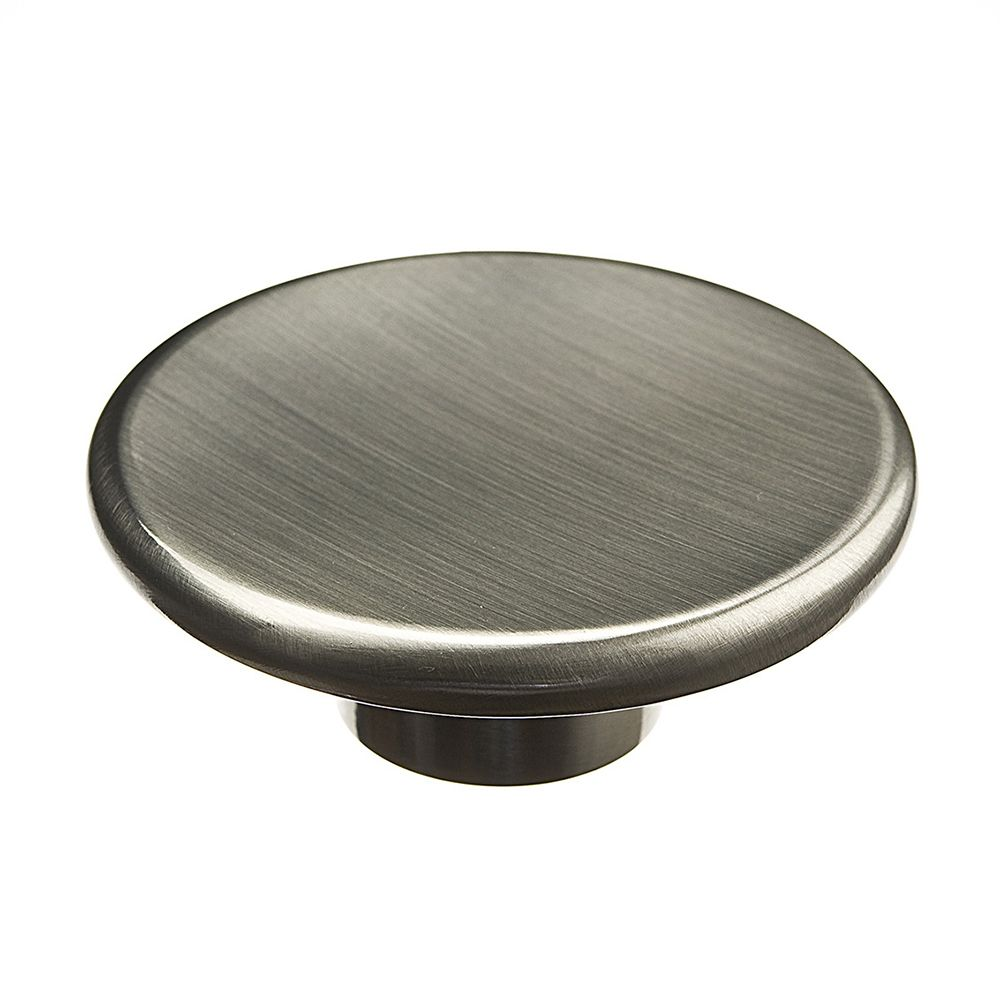 Contemporary Metal Knob - Polished Nickel - 57 Mm Dia.
