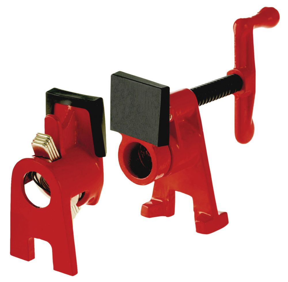 H Style Pipe Clamp Fixture Set for 3/4  Inch Black Pipe