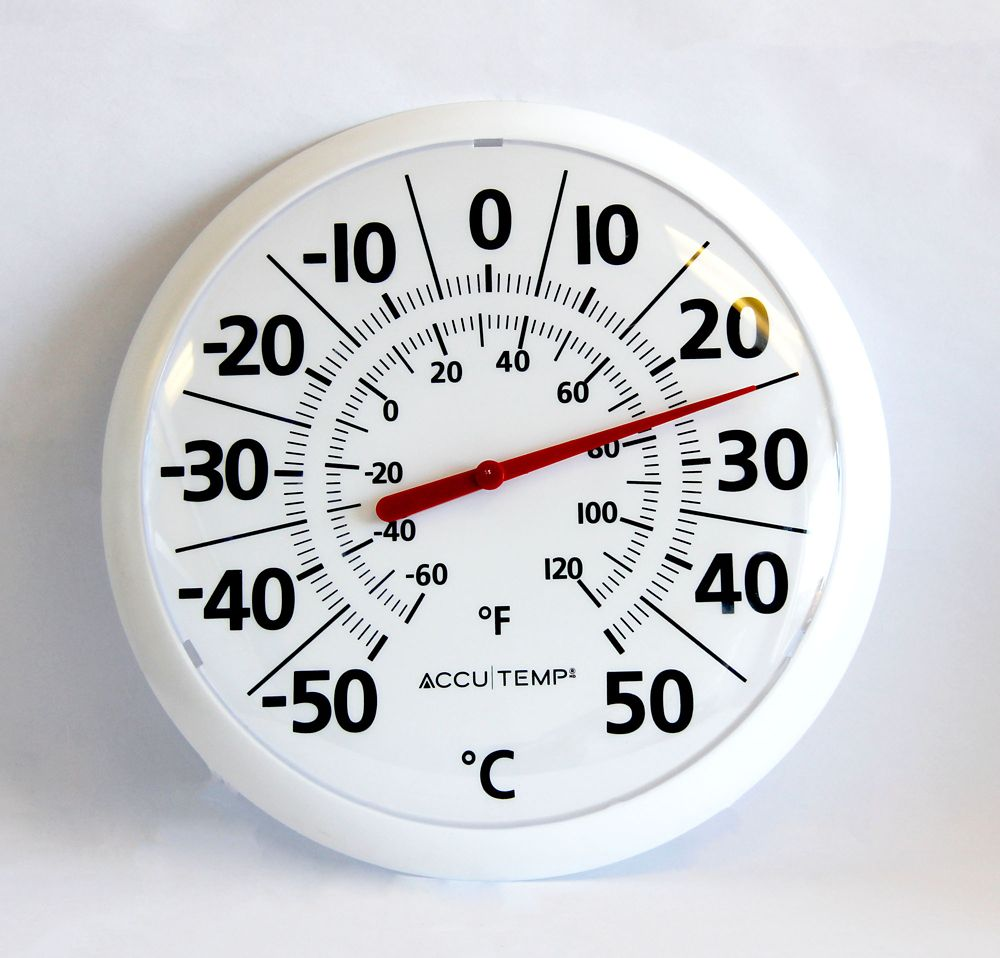 13 Inch Patio Thermometer White