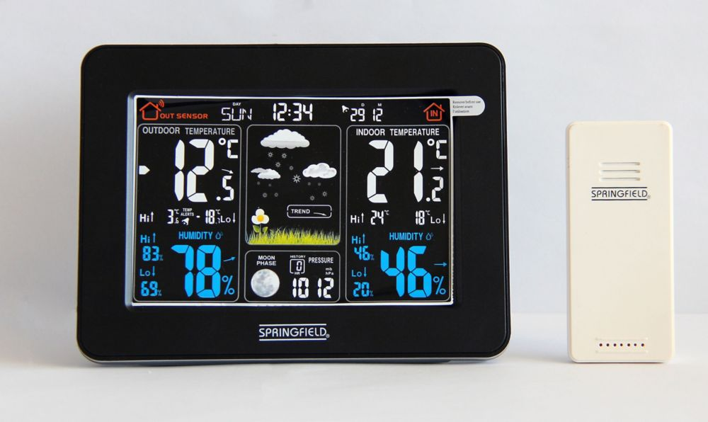 Wireless Weather Station, Color LCD