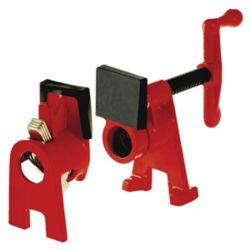BESSEY H Style Pipe Clamp Fixture Set for 1/2  inch Black Pipe