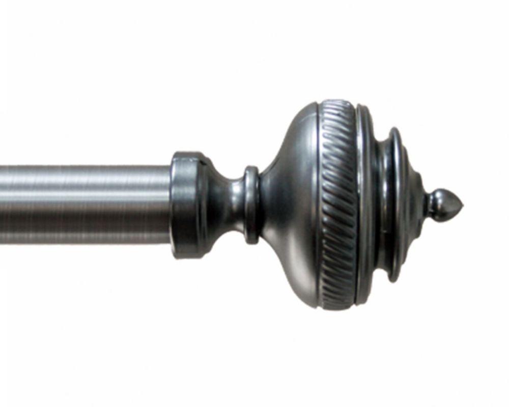66 Inch-120 Inch, Gunmetal 3/4 Inch Modern Cylinder Rod Set