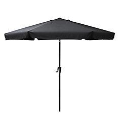 10 ft. Round Tilting Black Patio Umbrella