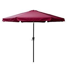 10 ft. Round Tilting Wine Red Patio Umbrella
