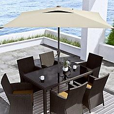 Square Patio Umbrella in Warm White