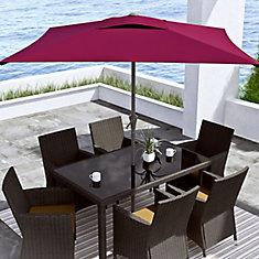 Square Patio Umbrella in Wine Red