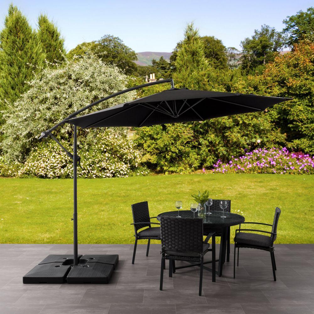 Offset Patio Umbrella in Black