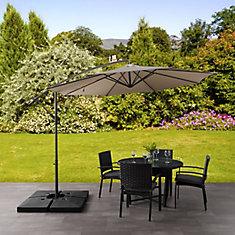 9.5 ft. UV Resistant Offset Sandy Brown Patio Umbrella