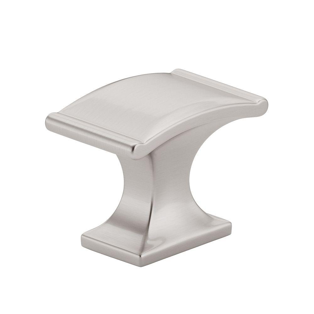 Bouton classique en métal - Nickel brossé - Dia. 35 mm