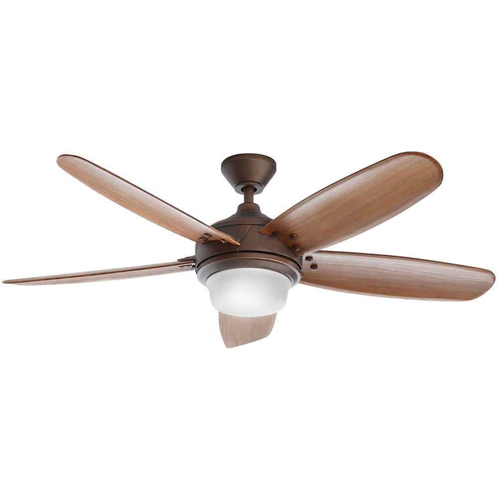 Home Decorators Collection Breezemore 56-inch 5-Blade 2-Light Mediterranean Bronze Indoor Ceiling Fan with Light Kit and Remote