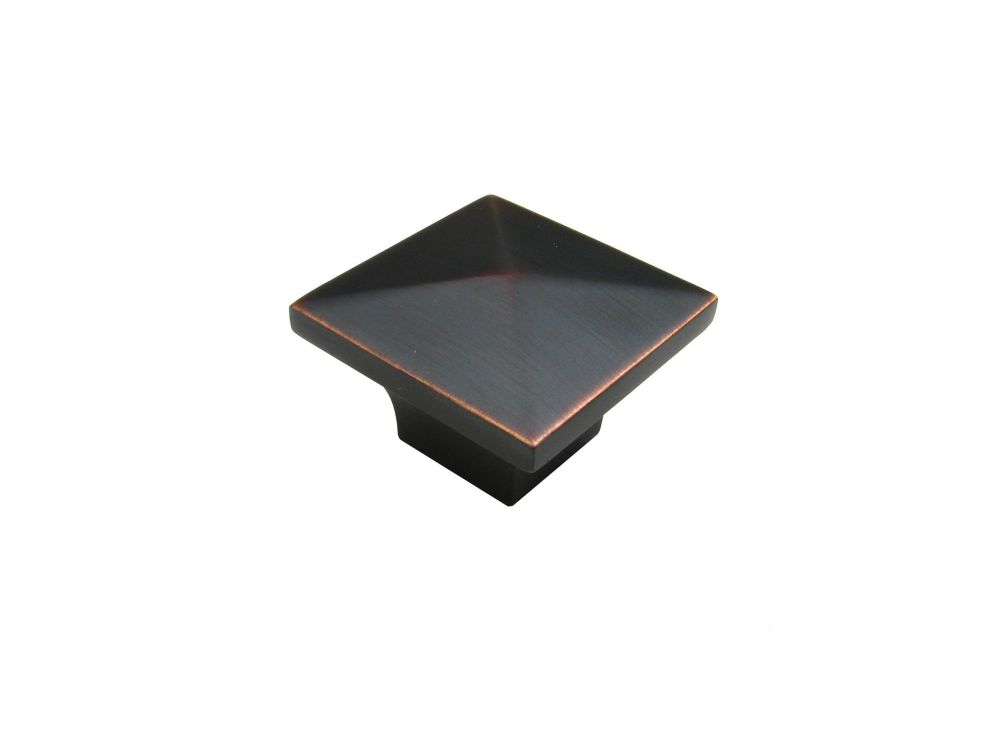 Classic Metal Knob - Brushed Oil-Rubbed Bronze - 32 X 32 Mm Dia.