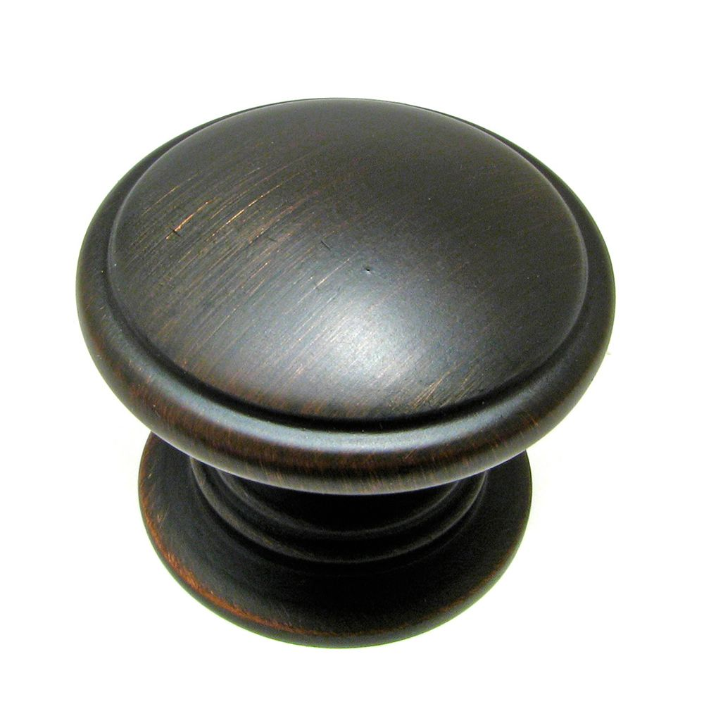 Classic Metal Knob - Brushed Oil-Rubbed Bronze - 32 Mm Dia.