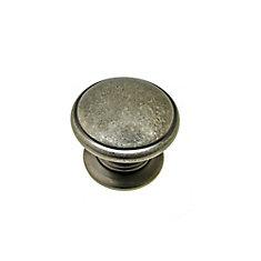 Traditional Metal Knob - Pewter - 32 mm Dia.