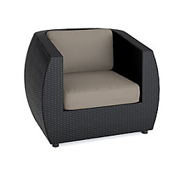 Seattle Patio Chair in Textured Black Weave
