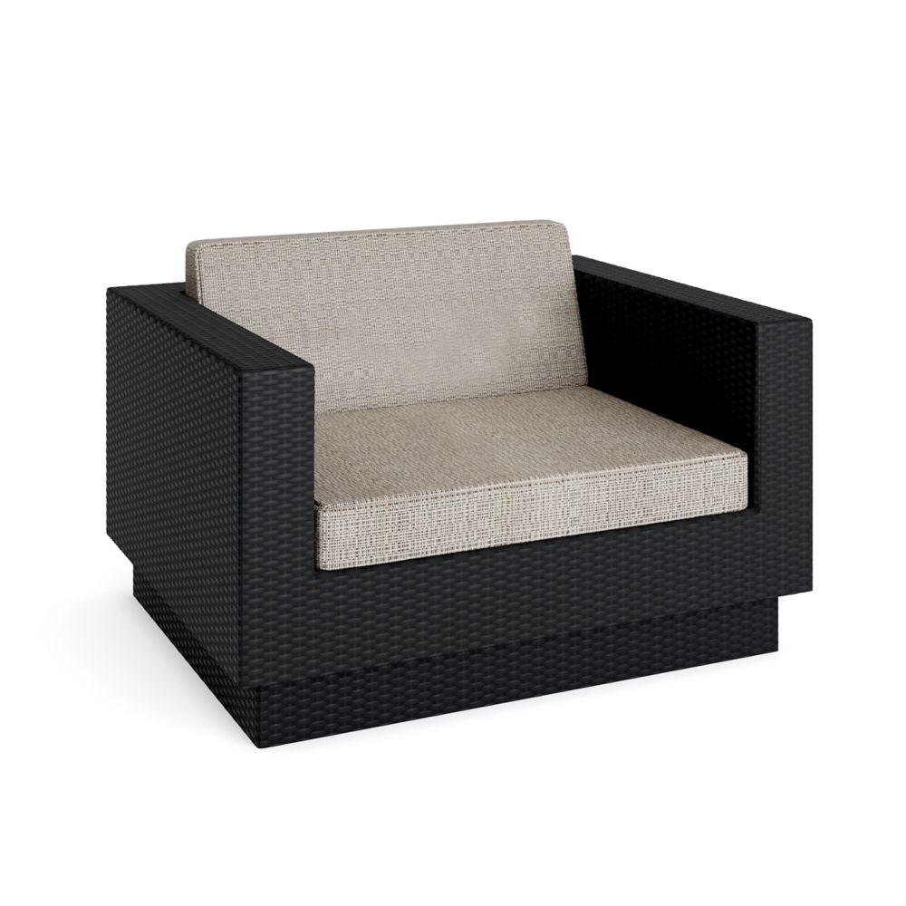 Park Terrace Textured Black Chair