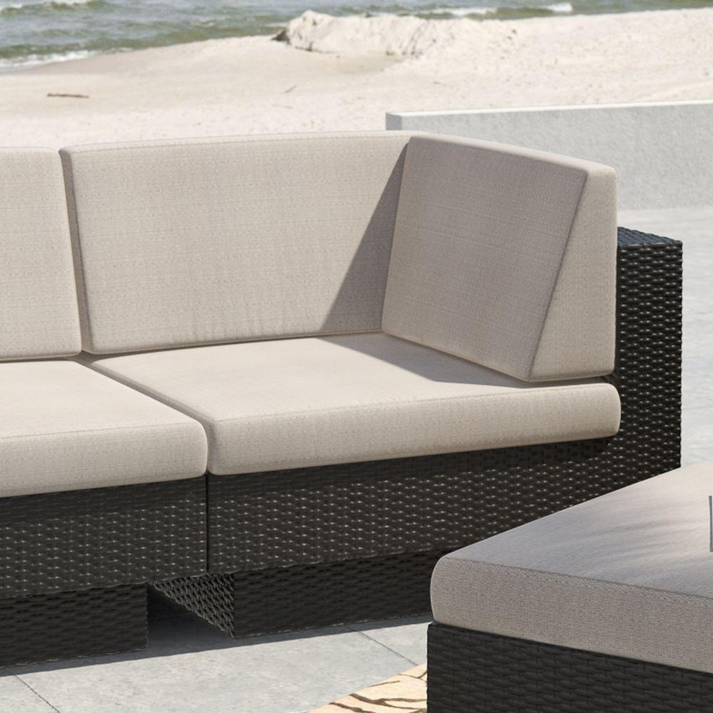 Park Terrace Textured Black Corner Seat