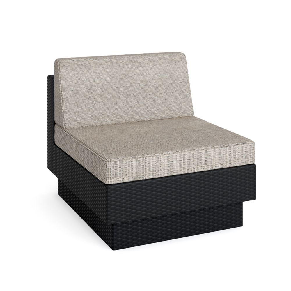 Park Terrace Textured Black Armless Middle Seat