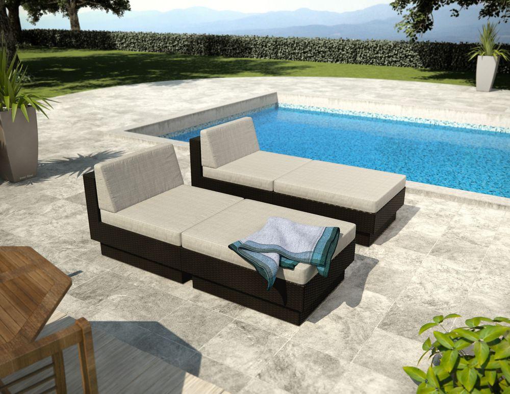 Sonax Park Terrace Black Textured 4 Piece Lounger Patio Set