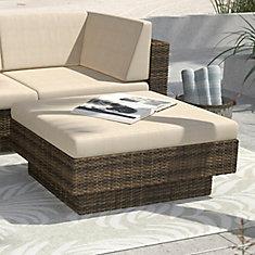 Park Terrace Ottoman In Saddle Strap Weave