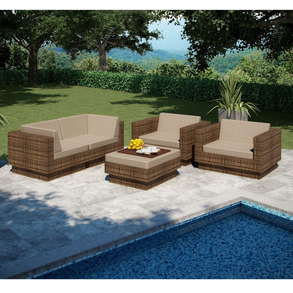 Park Terrace 5 Piece Sofa Patio Set